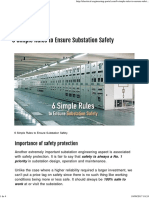 6 Simple Rules to Ensure Substation Safety