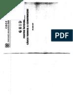 PC 001-97 Ghid Pentru a Cartii Tehnice a Constructiei