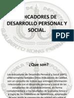 INDICADORES DE DESARROLLO PERSONAL Y SOCIAL