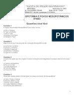 ATIVIDADES MESOPOTÂMIA E POVOS MESOPOTÂMICOS - SANTA
