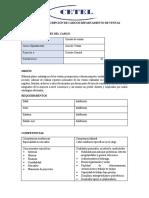 Análisis y Descripción de Cargos Departamento de Ventas