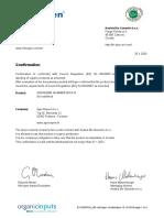 Aspanger glina EKO certifikat 2020-2021
