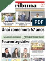JORNAL TRIBUNA - EDIÇÃO 279 - JANEIRO DE 2011 - UNAÍ-MG