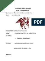 PRIMERA PRACTICA DE ALBAÑOLERIA (ANTHONY ROJAS JUAREZ)