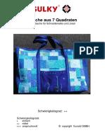 Tasche aus 7 Quadraten Kurstasche für Schneidematte und Lineal