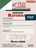 CONTENIDO REVISTA MARZO 2020