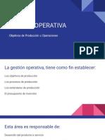 OBJETIVOS DE PRODUCCIÓN