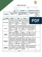 Rúbrica de evaluación-Sesión 3