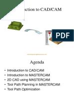 Introduction to CAD CAM MasterCAM
