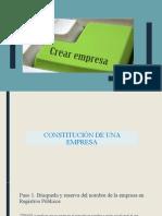 EMPRENDIMIENTO - CONSTITUCION DE UNA EMPRESA