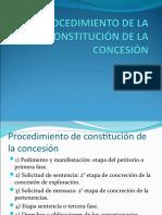 PROCEDIMIENTO DE LA CONSTITUCIÓN DE LA CONCESIÓN