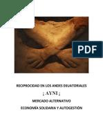 RECIPROCIDAD EN LOS ANDES EKUATORIALES