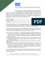 FORMATO DE AUTORIZACIÓN PARA EL TRATAMIENTO DE DATOS PERSONALES