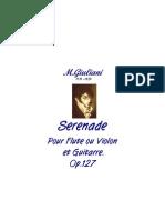 Giuliani Serenade Op. 127 for Flute or Violin and Guitar
