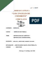 SEPARACION DE HECHO Y CONVENSIONAL 2020