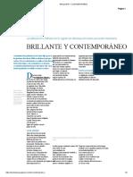 BRILLANTE Y CONTEMPORÁNEO