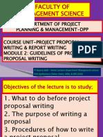 Project Proposal Writing Module 2