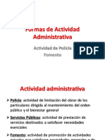 Formas de Actividad Administrativa