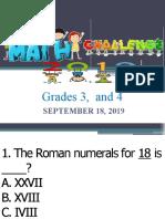 MATH QUIZ BEE GRADES 3-4