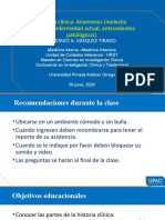 Semiologia - Hcl Anamnesis Mp, Ea, AP