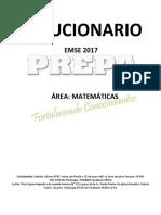 Solucionario EMSE 2017 Área Matemáticas