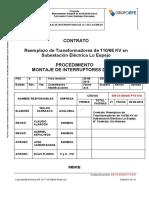 Procedimiento de montaje de Int. de AT - SE Lo Espejo (2)