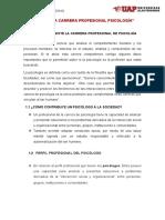 ETÍCA DE LA CARRERA PROFESIONAL PSICOLOGÍA