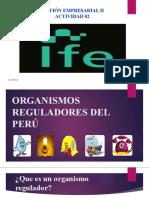 TAREA DE ORGANISMOS REGULADORES EN EL PERU