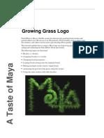 Autodesk Maya Tutorial - Grass Logo