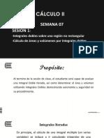 PPT 1 - Semana 07 - S1 - Integrales Dobles - Cálculo de Áreas y Volúmenes