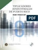MultiplicadoresInterindustriales de PR 2007 publicados en 2019