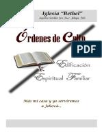 Órdenes de Culto para Contigencia COVID 2020 dos últimas semanas finales de Abril y mayo