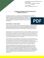 ANTECEDENTES COMERCIALES COMERCIALIZADORA INTERNACIONAL CARIBBEAN EXOTICS S
