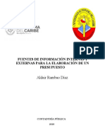 Fuentes Internas y Externas Para La Elaboración De Un Presupuesto
