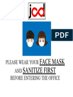PLEASE WEAR YOUR FACE MASK