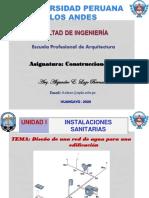 CLASE 4. DISEÑO DE RED DE AGUA PARA UNA EDIFICACIÓN
