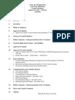 #01 - January 10, 2011 Agenda