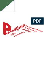 Perception in Typography Zine