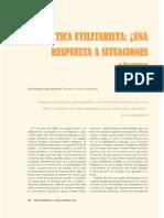 Etica utilitarista y situaciones limite