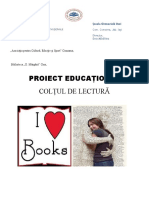 Proiect-Colțul de lectura