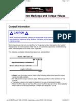 Capscrew Markings and Torqure Values