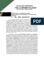 De la gramatologia- Derrida