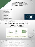 TRABAJO DE FUERZAS CONSTANTES