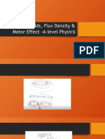 Magnetic Fields, Flux Density & Motor Effect.pptx