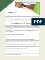 1601. NORMES NF P 01-012 ET NF P 01-013