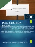 BUDAYA POLITIK (SOSIOLOGI POLITIK) kelompok 14.pptx