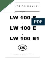 AIR COMPRESSOR FOR SCBA -TYPE LW 100 E & LW 100 B