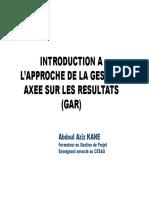 Introduction à l_approche de la GAR