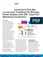 Liqui-Cel Technical Brief Ammonia in Flue Gas Condensate for Biomass Power Stations LC-1004 Celum