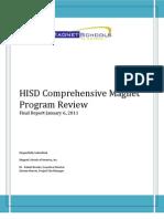 Houston ISD magnet school audit final report Jan. 6, 2011
